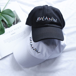Wholesale melanin for sale - Group buy New Arrival MELANIN Letter Embroidery Baseball Cap Women Snapback Hat Adjustable Men Fashion Hats