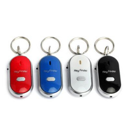Travel sounds online shopping - Anti Lost Key Finder Key Locator Keychain Whistle Sound Control Keyring Outdoors Key Finder Anti Lost Keychain Novelty Items CCA10159