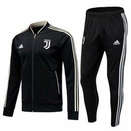 China Best selling new 18 19 season Juventus jacket training suit suit 2018 2019 home away tracksuits soccer jersey RONALDO training suit supplier best breathable jacket suppliers