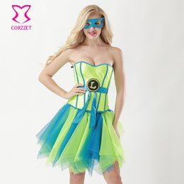 Sexy Anime Costumes For Women UK - Sequins overbust Corset sexy anime cosplay Carnival Party  Halloween Costumes For women Fancy Dress Corset+Skirt+Mask