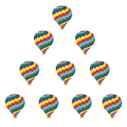 hot air balloon kids Canada - 10 PCS Hot Air Balloon Embroidered Patches for Clothing Bags Iron on Transfer Applique Patch for Jeans DIY Sew on Embroidery Kids Stickers