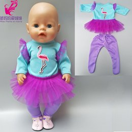 $enCountryForm.capitalKeyWord Australia - For 43cm Zapf Baby Born Dolls purple princess lace dress for 18 inch girls doll tulle tutu dress toys clothes babies doll