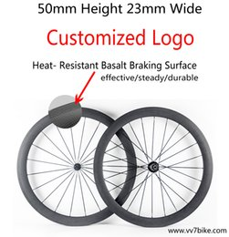 China road biCyCles online shopping - china mm carbon basalt brake surface road bike wheels clincher bicycle road bike wheelset black cycling wheels color decals