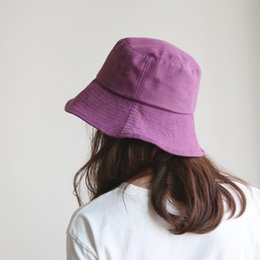 a35e0c02905 New Summer Hats For Women Simple Fisherman Hat Female Flat Cap Folding  Bucket Hat Bob Mens Panama Fishing Cap D18110601