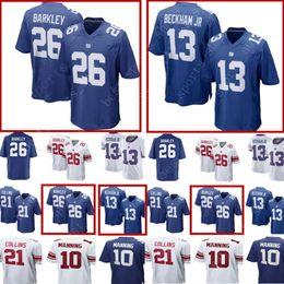 New York Giants  26 Saquon Barkley Jersey Mens 13 Odell Beckham jr 10 Eli  Manning 21 Landon 15 Marshall Collins Football Jerseys a4f3701d1