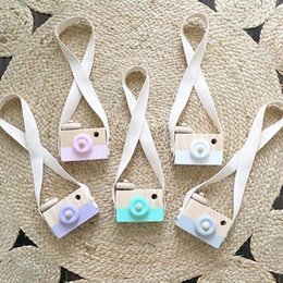 Toy Camera Wholesale Australia - Nordic Wooden Camera Toys For Baby Kids Room Decor Accessories Wood Furnishing Articles Children Christmas Birthday Gift 8 Color