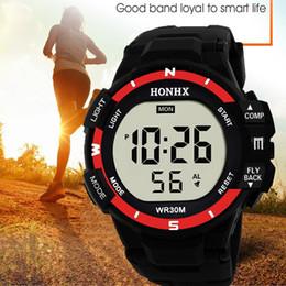 Men Digital Wrist Watches Australia - Digital Watch Fashion Men Analog Digital Army Sport LED Waterproof Wrist Watch Gift 2018