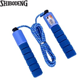 Wholesale Jump Ropes With Counter Sports Fitness Crossfit Adjustable Fast Speed Counting Jump Skip Rope Skipping Wire Calories Blue Color