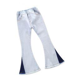 $enCountryForm.capitalKeyWord NZ - 2019 INS Hot Olde Worlde Look Children Girls All Seasons Jeans Kids European & American Fashion Flared Trousers Kids Rough Edges Pants