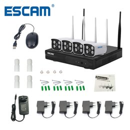 Discount security night - ESCAM WNK403 Plug and Play Wireless NVR Kit P2P 720P HD Outdoor IR Night Vision Security IP Camera WIFI CCTV System