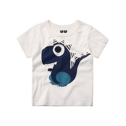 white cotton t shirts children UK - Children T shirts for Boys Clothes 2018 Brand Baby Boys Summer Tops Tee Shirts Fille Animal Print Kids T-shirts Boy Clothing