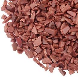 Crystal Chips NZ - 100g Gold Sand Stone Quartz Gravel assemble crystal Decorate Aquarium Fish Tank Tumbled Crushed Irregular Shaped Chips adorn Healing Rough
