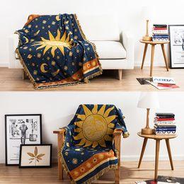 $enCountryForm.capitalKeyWord Australia - yazi Sun 100% Cotton Throw Double Faced Crochet Thread Blanket Sofa Chair Cover Tapestry Bed Lid Carpets Floor Rug