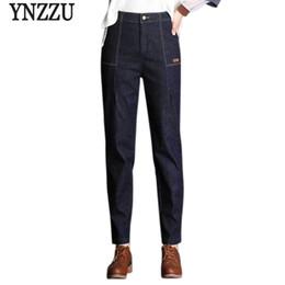 b404b589d4d81 women jean trousers 2019 - YNZZU 2018 New Vintage Jeans Women High Waist  Elegant Mom Jeans