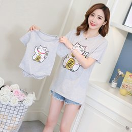 56f49e391d110 863  Cotton Maternity Nursing T Shirt with Baby Romper Summer Fashion  Breastfeeding T-shirts for Pregnant Women Pregnancy Tops