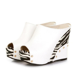 8c72e3efdd9 White chunky platform gladiator sandal shoes online shopping - Fashion Plus  Size High Wedges Summer Flip