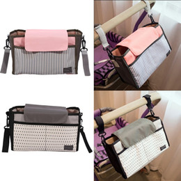 $enCountryForm.capitalKeyWord NZ - Multifunctional Mummy Bag Diaper Bag Baby Nappy Polyester Stroller Accessories Striped Hanging Water-Proof Storage Bags