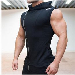 Wholesale sleeveless hoodies sweatshirts for sale - Group buy Fashion l Be Cotton Hoodie Sweatshirts Fitness Clothes Bodybuilding Tank Top Men Sleeveless Tees Shirt Hoodies Vest