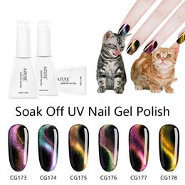 Wholesale Azure Beauty Magical Chameleon Magnetic Nail Gel Polish Colors ML D Cat Eye Effect Soak off UV Gel Need Magnet Stick Nail Gel