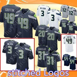 Discount football fans - Mens Seattle Seahawks 49 Shaquem Griffin 3 Russell  Wilson 20 Rashaad Penny f10862585