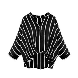 China 2018 Women Striped Shirts Casual Twist Front Full Sleeve Crop Turn-down Collar Top Female Loose Blouse supplier women striped button down shirt suppliers