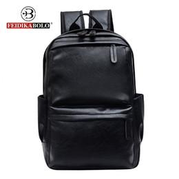 a22ec71fd2ce FEIDIKABOLO мужчины рюкзак мужской рюкзак человек кожаный рюкзак ноутбук  мужчины черный дорожные сумки для человека 2018 школа сумка мода пакет сумка