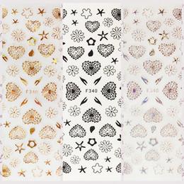 $enCountryForm.capitalKeyWord Canada - 1 Sheet Line Drawing 3D Knitted Heart Petal Flowers Sea Star Self-Adhesive Nail Art Stickers DIY F340# Top-Grade Packing