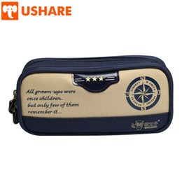 $enCountryForm.capitalKeyWord Australia - USHARE Retro Metal Zipper Canvas Pencil Cases For Kid Office School Supplies High Quality Pencil Box Stationery Gift For Student