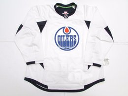 f9dcfc808 Cheap custom EDMONTON OILERS WHITE EDGE PRACTICE HOCKEY JERSEY stitch add  any number any name Mens Hockey Jersey XS-5XL