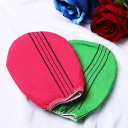 $enCountryForm.capitalKeyWord NZ - 1PC New Practical Green Red Durable Viscose Fiber Exfoliating Body Shower Scrubber Towel Korean Italy Bath Glove Baths Supplies