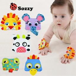 Colorful Infant Socks Australia - Hot SOZZY Wrist Band Rattle Foot Socks Ring Bell Colorful Infant Baby Developmental Toy Plush Newborn Soft Doll