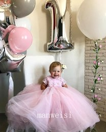 $enCountryForm.capitalKeyWord NZ - Girls pageant Dresses Jewel Major Beading Sequins Toddlers Flower Girls Dress Floor Length Satin And Tulle Kids Party Dress