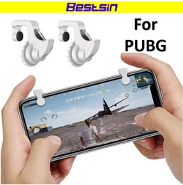 GaminG controller for mobile online shopping - Bestsin Knives out Rules of Survival Mobile Game Fire Button Aim Key Smart phone Mobile Gaming Trigger Shooter Controller for PUBG Game