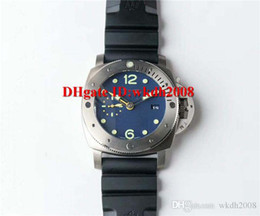 Discount titanium swiss men watch - Top Luxury brand pam719 watches GMT cal.P.9000 Automatic 28800vph Titanium case Sapphire Crystal Rubber strap Swiss men