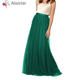 9b57a9238 Faldas De Gasa Verde Online   Maxi Faldas Verdes De Gasa Online en ...