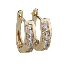 Copper Earrings Australia - LINDA Gold Copper Silver Copper White Cubic Zirconia Irregular Earrings Women's Workplace Wild Jewelry