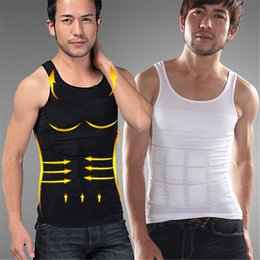 $enCountryForm.capitalKeyWord NZ - Casual Good Quality Men Slimming Lost Weight Vest Shirt Fatty Undershirt Girdles Corset Body Shaper Size S-XXL O-Neck
