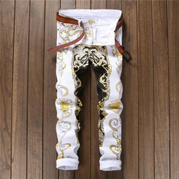Station Pants Canada - New 2018 print casual pants male body, Korean style flower trousers, European station fashion flower pants night 584
