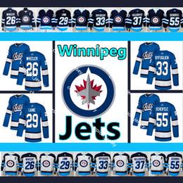 Men s Winnipeg Jets Jersey  26 Blake Wheeler  29 Patrik Laine  33 Dustin  Byfuglien  37 Connor Hellebuyck  55 Mark Scheifele Hockey Jerseys 418be2b5a