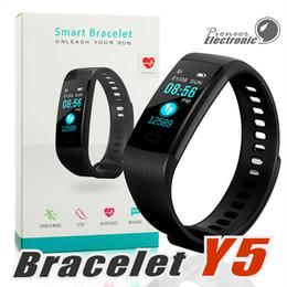Y5 Smart Браслет Браслеты Фитнес-трекер Цветной экран Сердцечастота Спящий шагомер Спорт Водонепроницаемый отслежыватель активности для iPhone Samsung