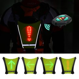 Usb Rechargeable Bike Riding Warning Light Lamp Reflective Safety Vest With Led Signals Remote Controller For Night Guiding Pj4 Bicycle Accessories