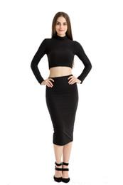 $enCountryForm.capitalKeyWord UK - Autumn And Winter Long-Sleeved High-Necked Two-Piece Dresses Grab Velvet Sexy Dresses Irregular Skirts Spliced Into Medium-Length Skirts