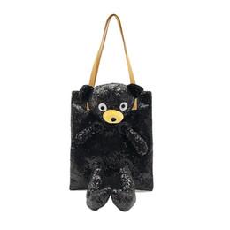 $enCountryForm.capitalKeyWord Canada - Direct wholesale tote bag 2018 new women's bag European and American style fashion sequins bear shoulder portable big bag