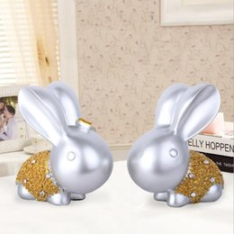 $enCountryForm.capitalKeyWord NZ - Rabbit Ornament Hand Rabbit Bunny Resin Figurine Gift for Friend Home Decor Decoration Accessories Modern Statue
