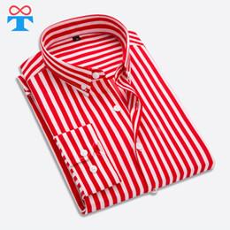 9a8709e5d78a25e Мужская рубашка Smart Business Casual, Франция Рубашка в красную полоску  Мужская, с длинным рукавом Slim Social School Германия для мальчиков