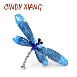 3d0381e58 Cindy xiang colorful resin dragonfly brooches for women vintage elegant  insect brooch pins new year gift winter coat jewelry
