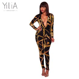 15d242211b20 Yilia New Rompers Womens Jumpsuit Long Sleeves Fashion Zipper Print Deep V  Neck Sexy Plus Size 3XL Romper Women Jumpsuits Pants q171125