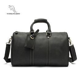 wholesale Men s Genuine Leather Travel Bag Zipper Luggage Travel Duffle Bag  Latest Style Large Capacity Male Portable Tote e660c922f4bcc