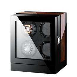 High End Mechanical Watches UK - High-End Solid Wood 4 Mechanical Watches Winder Automatic Watch Winder Multi-Function Touch Screen Control 5 Modes Watch