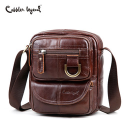 $enCountryForm.capitalKeyWord Canada - Cobbler Legend Brand Men Genuine Leather Messenger Bag Shoulder Bag for Women Business Travel Crossbody Satchels Handbags